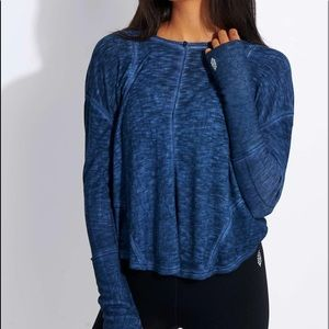Free People Lay Up LS Top